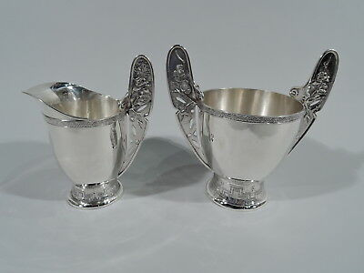 Tiffany Creamer Sugar - 3205 - Aesthetic Japonesque - American Sterling Silver