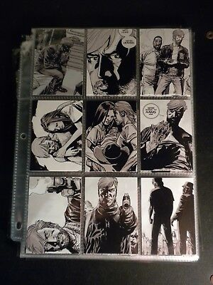 walking dead trading cards comic book seriesseason 1complete set of 1 to 90