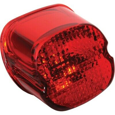 Drag Specialties 0902-6321 Bottom Tag Window Laydown Taillight Red Lens Harley