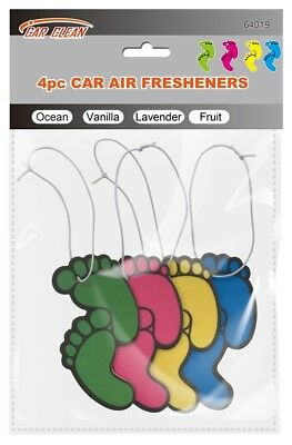 4pcTrendy Feet Air Freshener Assorted Fresh Scents Car,Taxi,Van,Home & Workplace