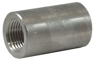"316 Stainless Steel Reducing Coupling, FNPT, 3/4"" x 1/4"" Pipe Size - 2UA25"