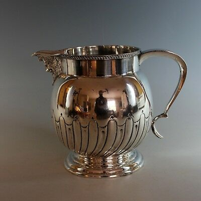 Repoussed Victorian Silverplate  Pitcher with Grotesque