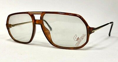 Vintage Retro Carrera 5311 Glasses Frames By Optyl Gold / Smoke Brown