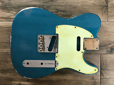 BODY Telecaster type LAKE PLACID BLUE relic aged nitro red alder vintage guitar