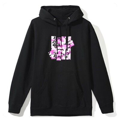 dca30c88a731 Auth Anti Social Social Club ASSC x Undefeated Camo Black Hoodie in hand  Large L