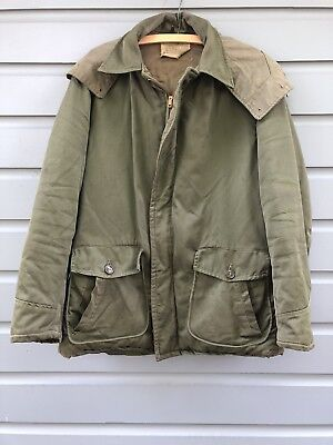 Vintage 1951 U.S. Military Collectible OD Green Insulated Field Jacket Type B-29