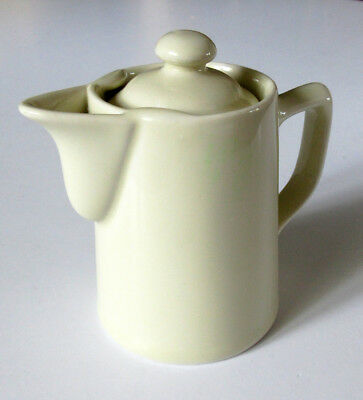 Vintage HALL China White Small Individual Creamer Syrup Pitcher