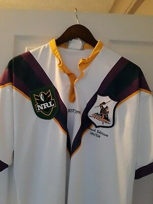 Limited Edition Melbourne Storm NRL rugby League Shirt Xl