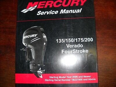 mercury marine outboards service manual 135 150 175 200 90 816249 rh picclick com 2006 mercury verado 150 owners manual 2006 mercury verado 150 owners manual