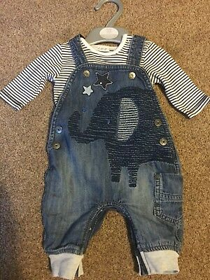 Baby boys dungaree set 0-3 Months Next