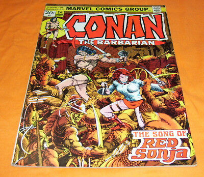 CONAN THE BARBARIAN #24 1st Red Sonja Barry Windsor-Smith FN 6.0