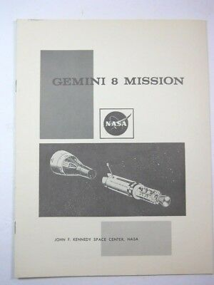 Vintage NASA Gemini 8 Mission Profile John F Kennedy Space Center
