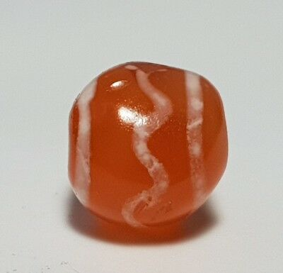 Ancient Rare Indo-Tibetan Etched Agate / Carnelian Bead