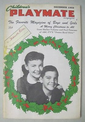 Children's Playmate Magazine Dec. 1959 Donna Reed Show The Lennon Sisters Popeye