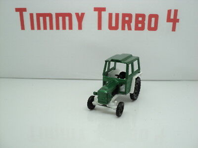Corgi Junior Zetor Tractor  In Green And White 55 Mm Long