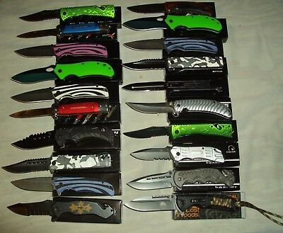 Lot of 20 pcs -Spring Assist Folding Knife (lot 1018)