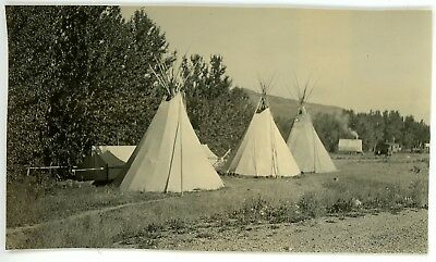 1939 PHOTO MT Montana St  Mary Blackfoot Indian Native American TIPIS  Teepees