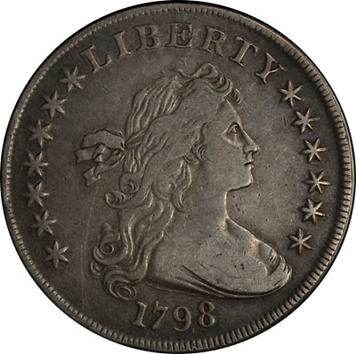 1798 Bust Dollar Choice VF Great Eye Appeal Nice Strike Great Color and Surfaces