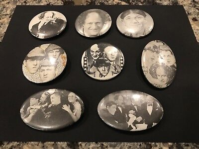 Super Rare Vintage Large Three Stooges Pinbacks/Buttons Lot - pre-80's