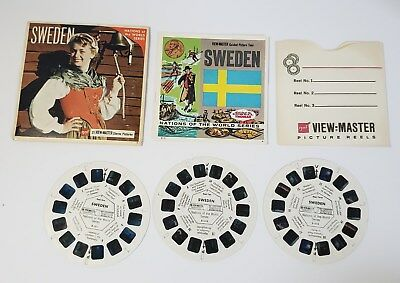 Sweden 3 Reel Set Packet B151 Sawyers ViewMaster Rare World Travel