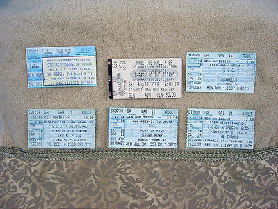 LOT 6 Rare Anthrax SOD Stormtroopers of Death Thrash Speed Metal Concert Tickets