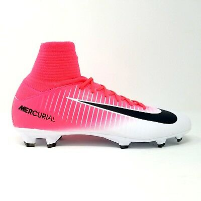 save off a215f 29bd0 NIKE JR MERCURIAL Superfly V FG Soccer Cleats Youth Pink White 831943-601  $150