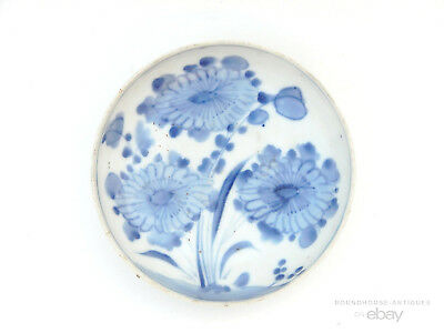 16th C. Antique Chinese Ming Dynasty Wanli Blue and White Porcelain Bowl