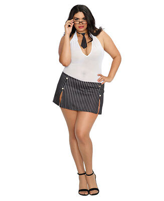 Plus Size Working Late Bedroom Costume - Dreamgirl 11043X