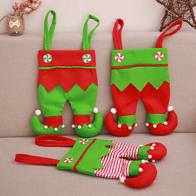 Christmas wine bottle cover bag kids gift candy bag christmas ornamentsforhomeRE