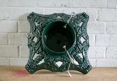 Rare Vintage Ornate Cast Iron Christmas Tree Stand Heavy Table Base Project