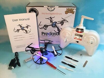 Holy Stone HS170 Predator Mini Quadcopter Drone Headless Mode Great Condition