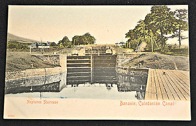 Neptune's Staircase Banavie Caledonian Canal Lock UK Postcard PC Circa 1908