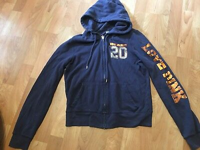 Womens VICTORIAS SECRET PINK CHICAGO BEARS hooded jacket size LARGE