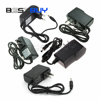 EU/US Plug AC 100-240V to DC 12V 9V 5V 1A 2A Power Supply Converter Adapter BBC