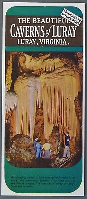 1951 LURAY CAVERNS Virginia VA Vintage Travel Tourist Brochure Map
