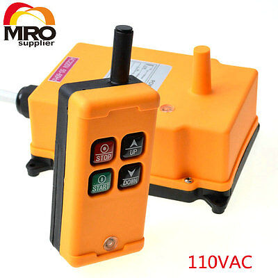 110VAC HS-4  1 Speed industrial wireless Crane Radio Remote Controler