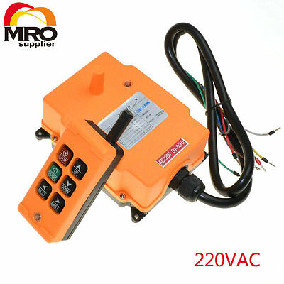 220VAC 6 Channels 1 Speed Hoist Crane Radio Remote  Control System HS-6