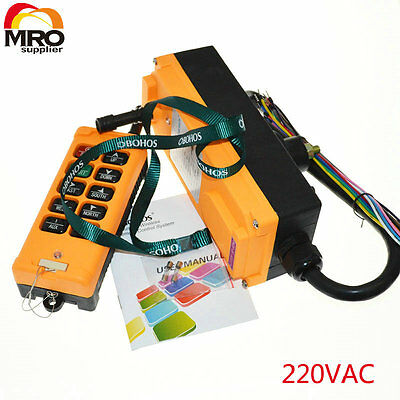 220vac 10 Channels 1 Speed industrial wireless  Hoist Crane  Remote Contoller