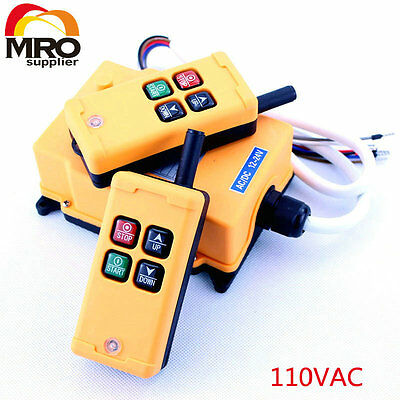 110VAC 4 Channels 1 Speed  Hoist Crane Truck Radio Remote Controller