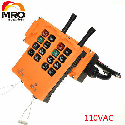 110VAC 8 Channels 1 Speed  Hoist Crane Truck Radio Remote Controller
