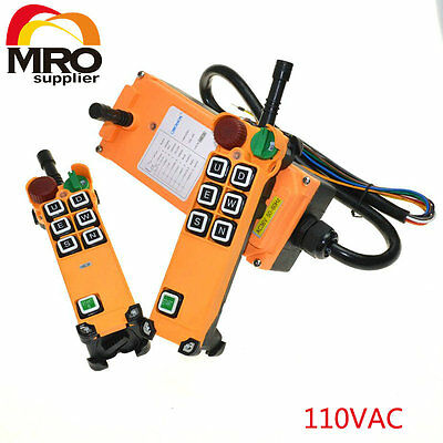 110VAC 6 Channels 1 Speed  Hoist Crane Truck Radio Remote Controller