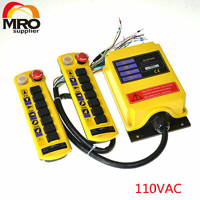 110VAC 2 Speed 7 Channel Control Hoist Crane Radio Remote Control System