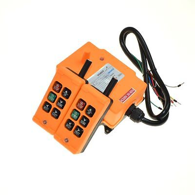 12-24VDC 6 Channels 1 Speed  2T Hoist Crane Radio Remote  Control System HS-6