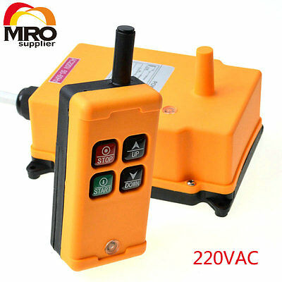 220VAC HS-4  1 Speed industrial wireless Crane Radio Remote Controler
