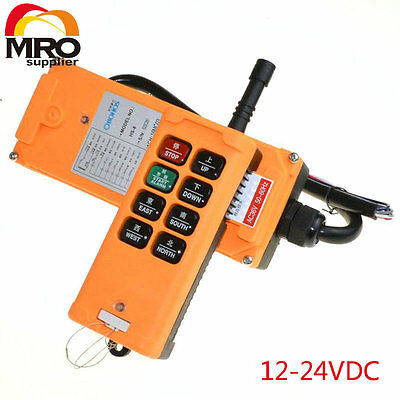 12-24VDC 8 Channels 1 Speed Truck Hoist Crane Winch Radio Remote  Controller
