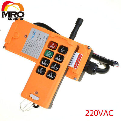 220vac 8 Channels 1 Speed Truck Hoist Crane Winch Radio Remote  Controller