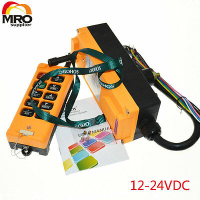 12-24VDC 10 Channels 1 Speed industrial wireless  Hoist Crane  Remote Contoller