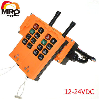 12-24VDC 8 Channels 1 Speed  Hoist Crane Truck Radio Remote Controller
