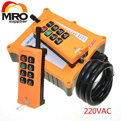 220VAC 8 Channels 2 Speed  Hoist Crane Truck Radio Remote Controller