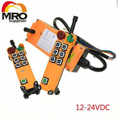 12-24VDC 6 Channels 1 Speed  Hoist Crane Truck Radio Remote Controller